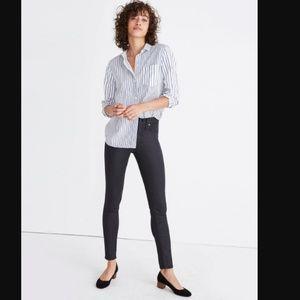 """Madewell 9"""" High Riser Skinny Jeans Coated Black"""